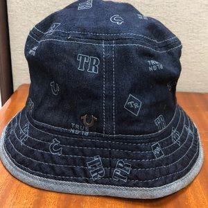 439b445a5d342 True Religion Accessories - True Religion Monogram Denim Bucket Hat